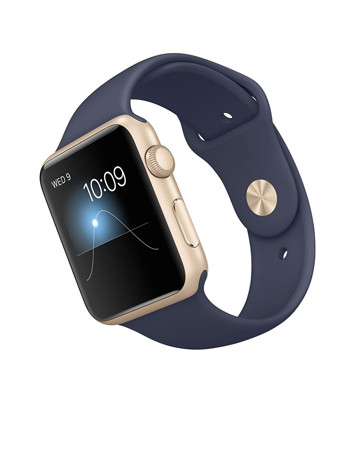 best cheap ba5b6 7d03a Apple Watch - Series 1, 42mm Gold Aluminium Case with Midnight Blue Band