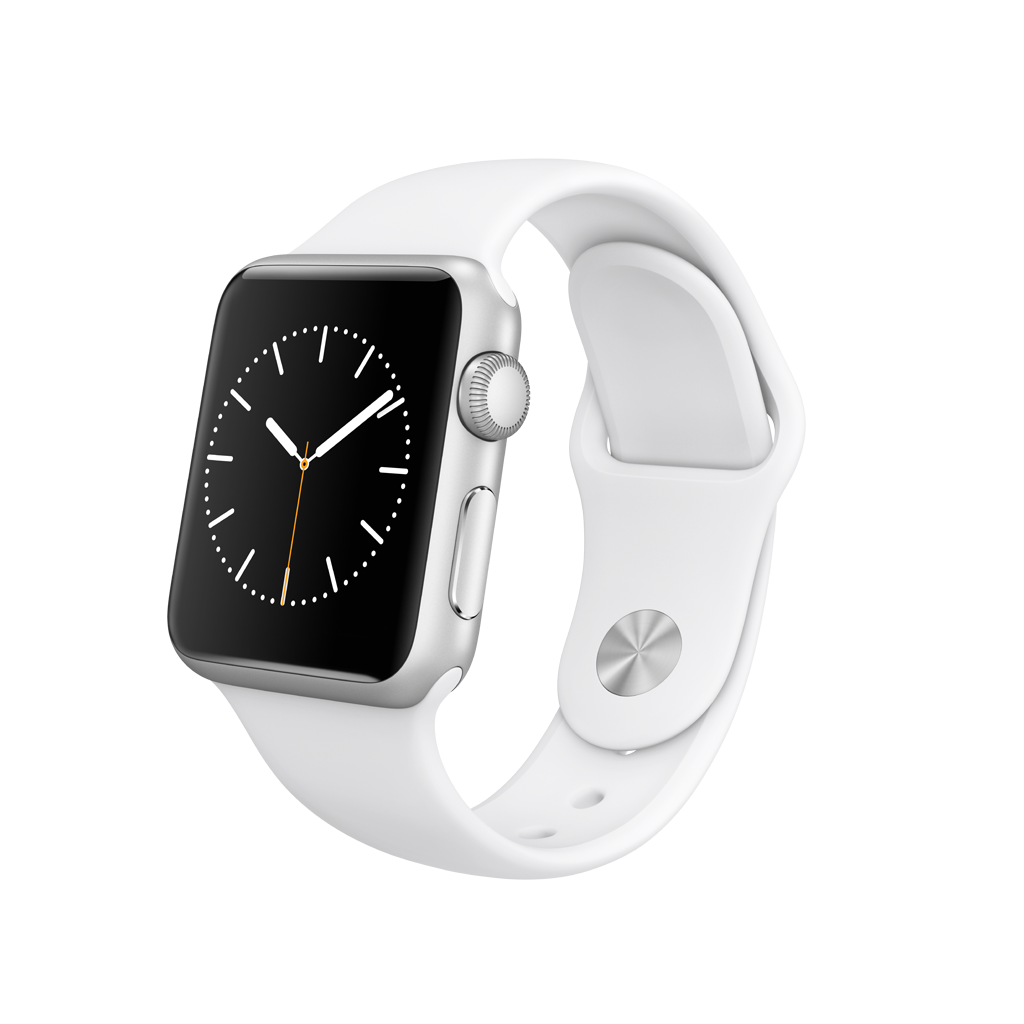 Apple Watch Series 1 42mm Gold Aluminium Case With Midnight Blue 2 Sport Band Silver White